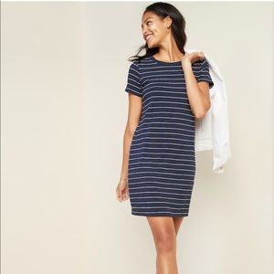 NWT Old Navy Fitted Tee Striped Crewneck Dress